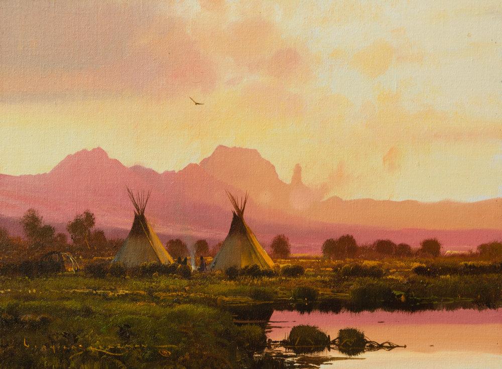 "Nicholas Coleman ""Near the Wind Rivers"" 12""x16"" Oil"
