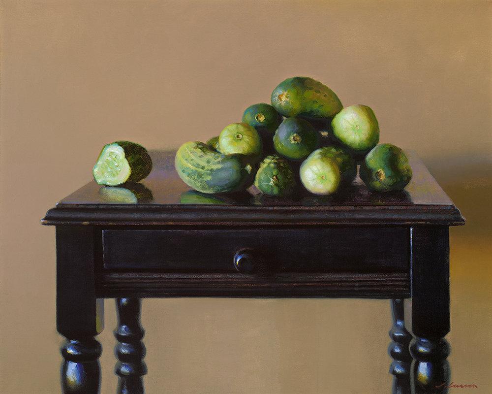 "Jeffrey T. Larson ""Cucumber Harvest"" 16""x20"" Oil"