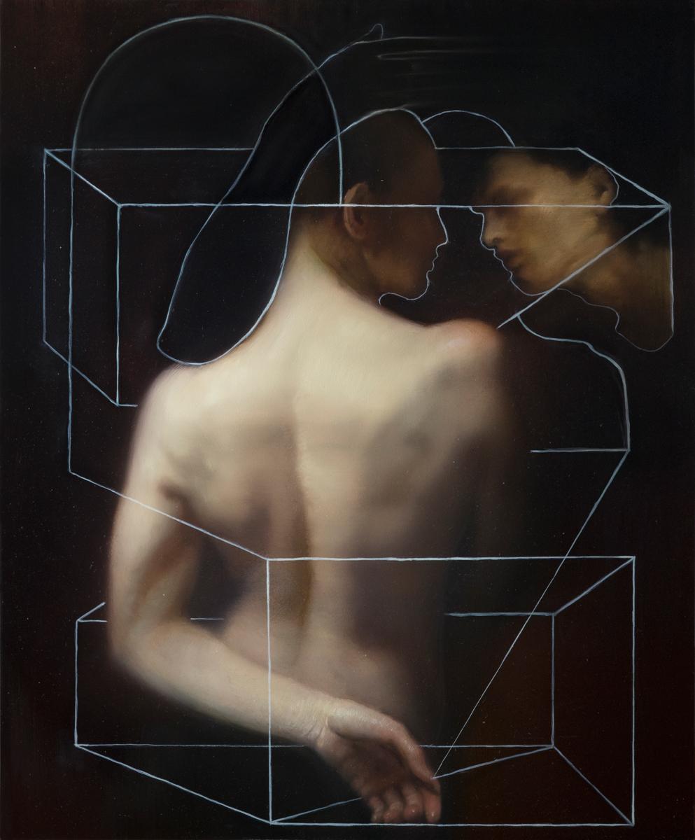 """Maria Kreyn """"Thought Pattern"""" Oil 20""""x16"""""""