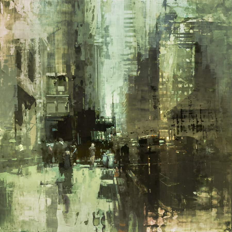 "Jeremy Mann ""NYC #41"" 48""x48"" Oil"