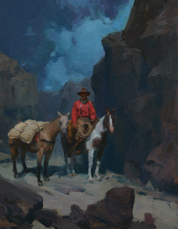 "(SOLD) Mian Situ ""Canyon Echoes"" 18""x14"" Oil"