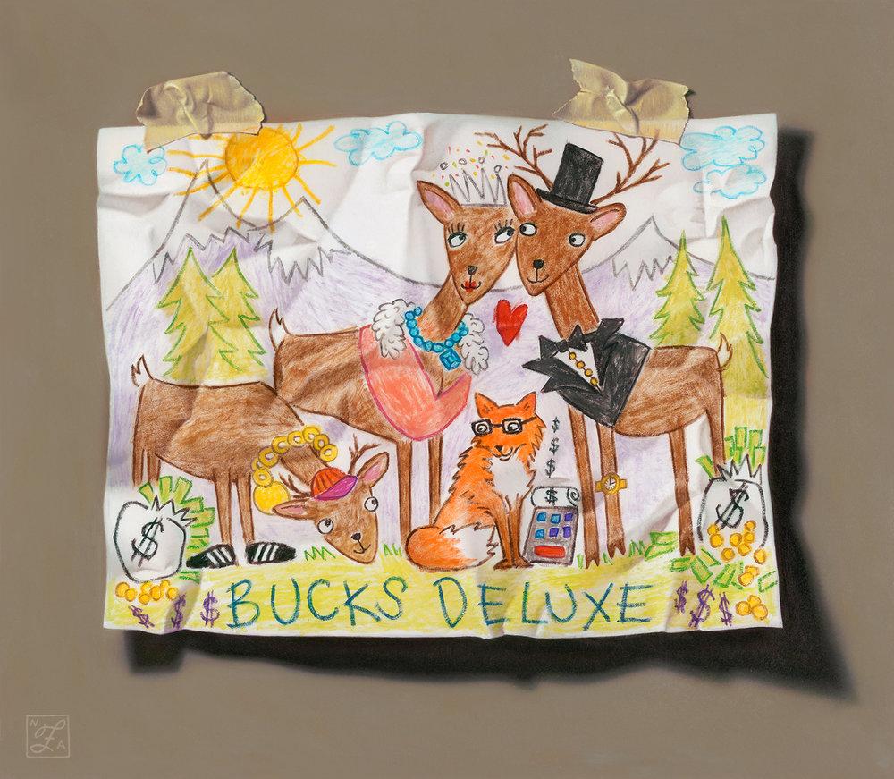 """""""Bucks Deluxe"""" 13""""x15"""" Oil"""