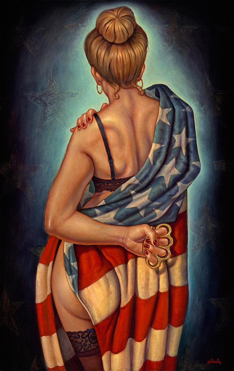 """""""American Girl"""" 48""""x30"""" Oil"""