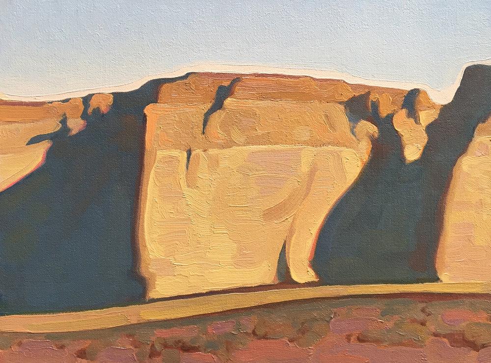 """Sandstone Walls"" 9""x12"" Oil"