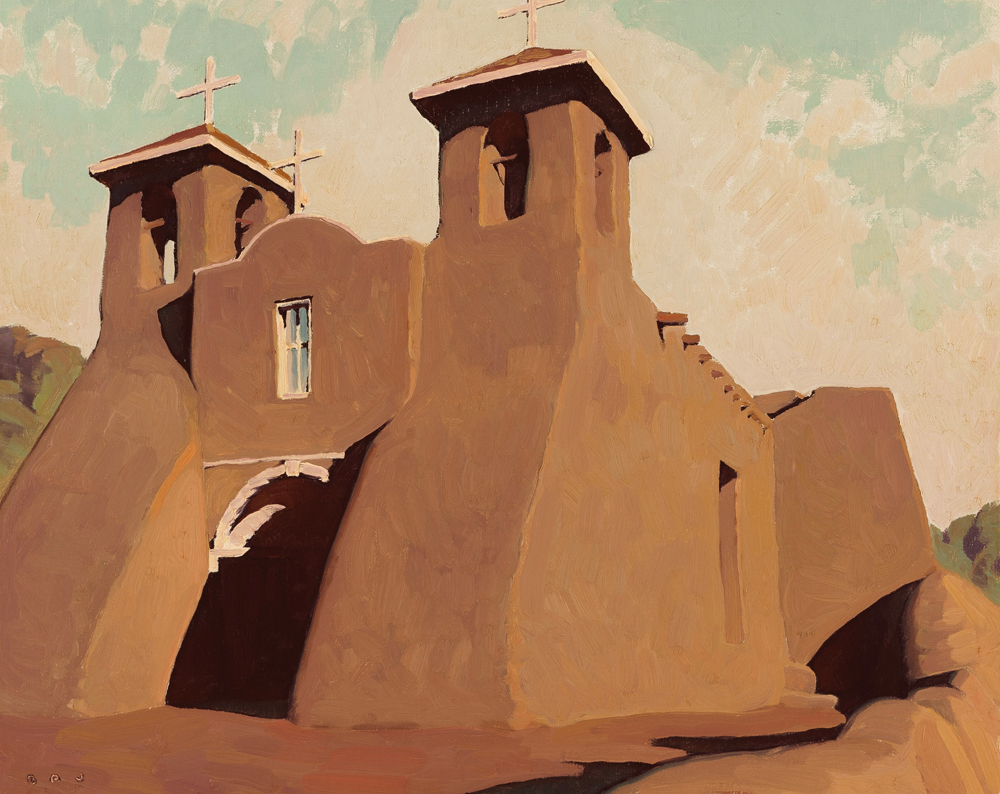 """(SOLD) """"Morning Light, Ranchos De Taos"""" 16""""x20"""" Oil"""