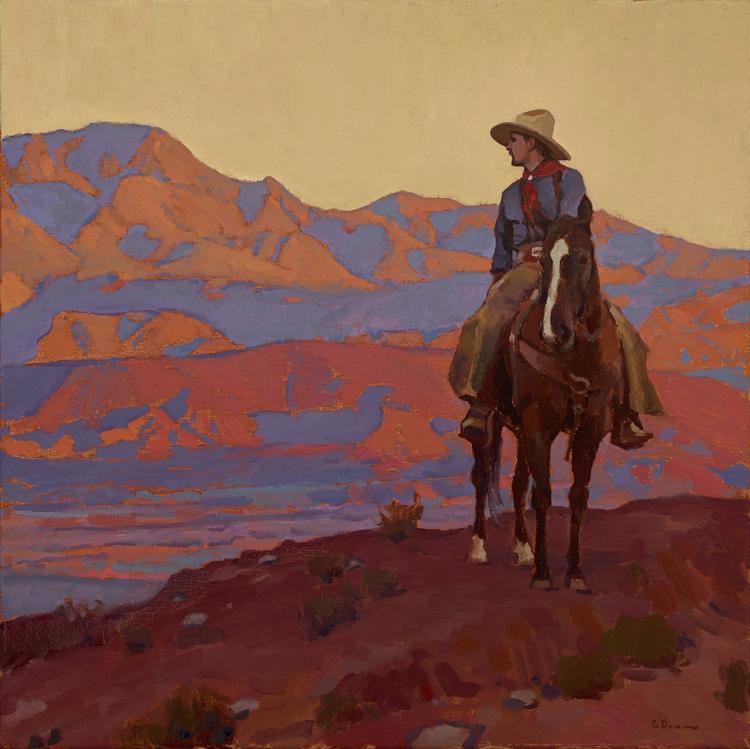 """(SOLD) """"Bounty of the Desert"""" 28″x28"""" Oil"""