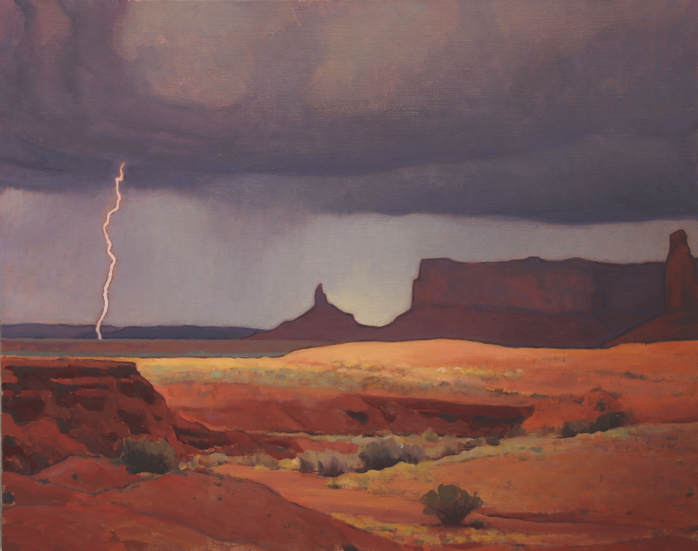 """(SOLD) """"Passing Storm"""" 24″x30″ Oil"""