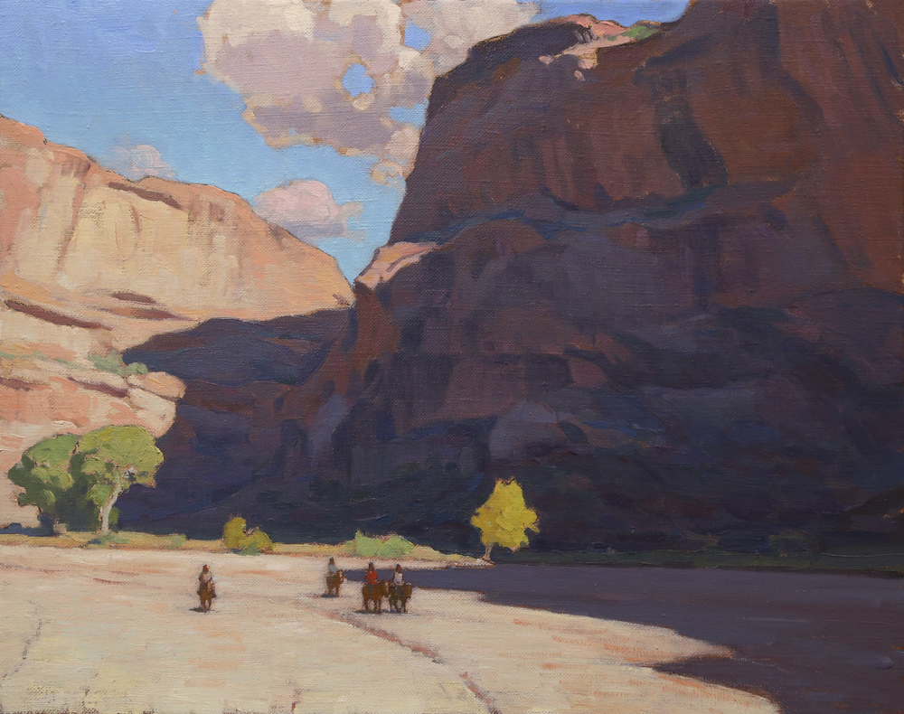 """(SOLD) """"Canyon Riders"""" 24″x30″ Oil"""