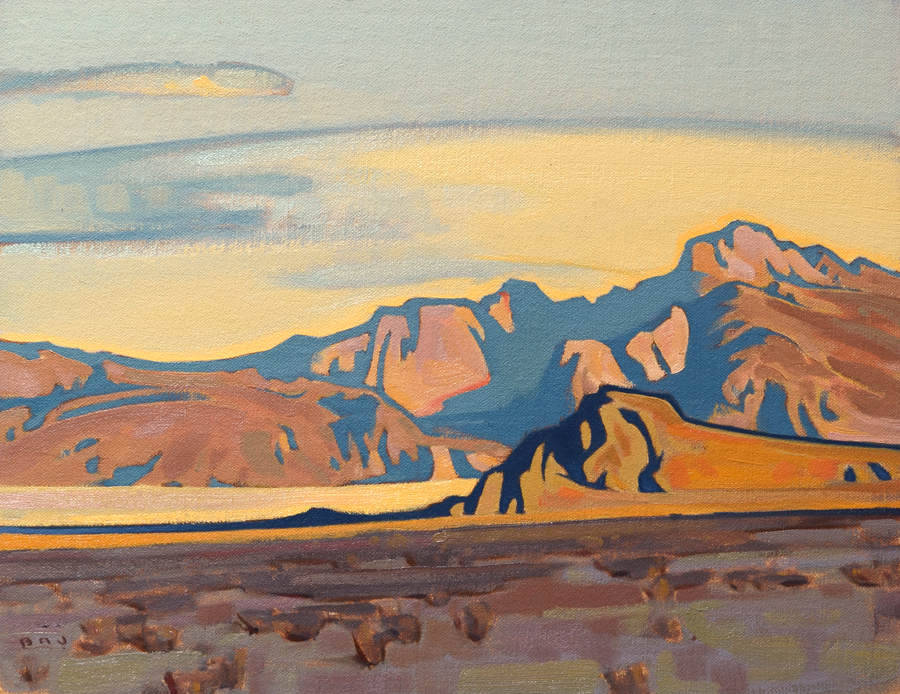 "(SOLD) ""Arid Valley"" 11""x14"" Oil"