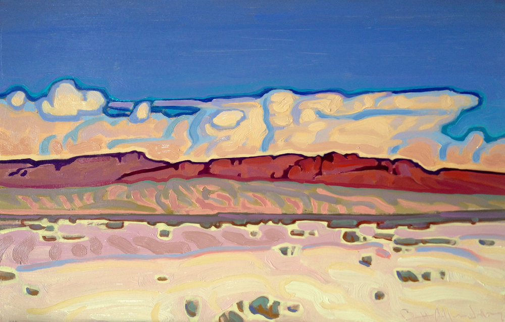 "(SOLD) ""Wide Open"" Oil 7.5"" x 12"""
