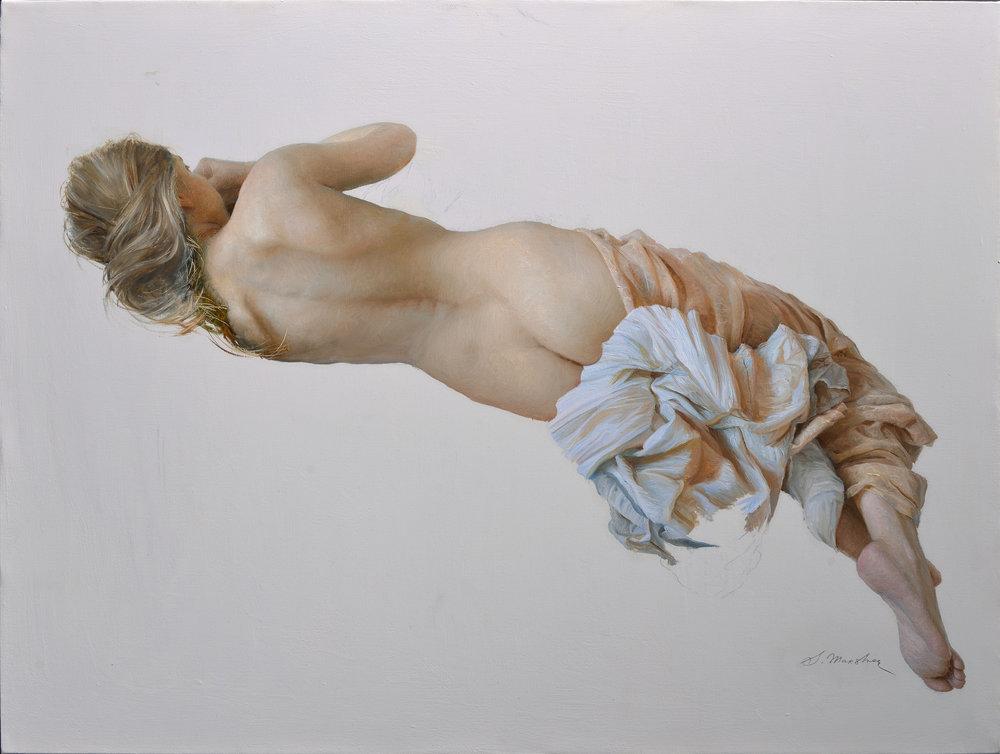 "Serge Marshennikov ""Nude in Bed"" 24x32 Oil"