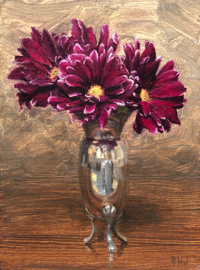 "(SOLD) Brendan Johnston ""Crimson Asters"""