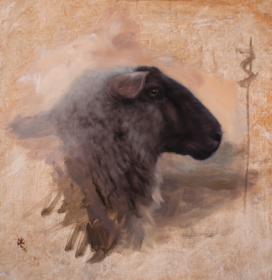 "(SOLD) David Gluck ""Sheep"""