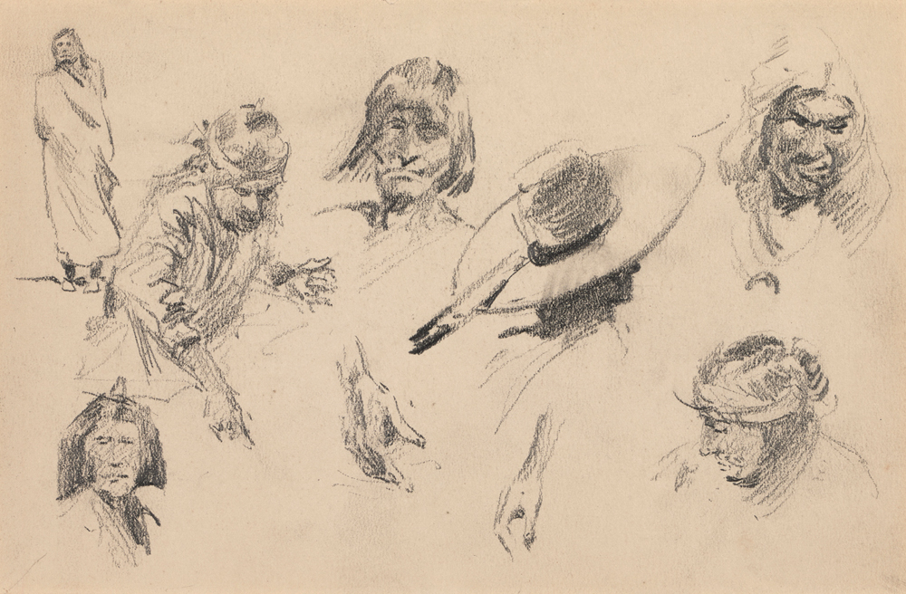 "Edward Borein ""Studies of western figures"""