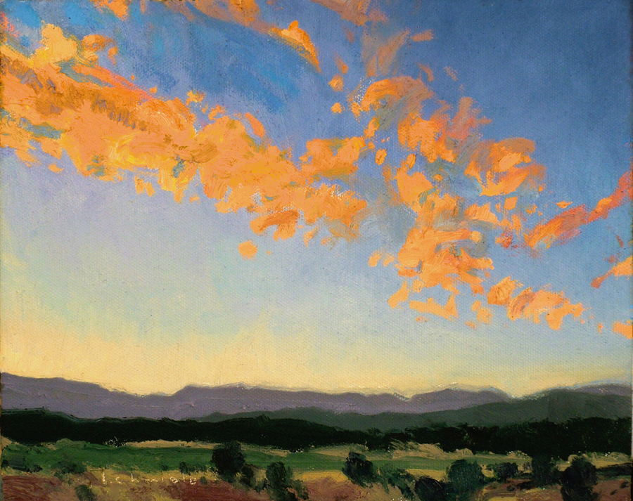 "(SOLD) Len Chmiel ""Cloud Speckled Sunset"""