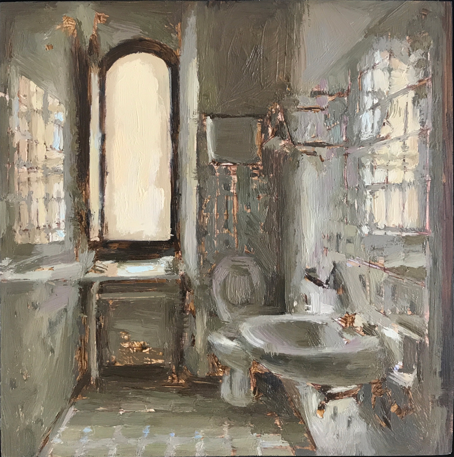 "(SOLD) Mary Sauer ""Italian Bathroom #4"""