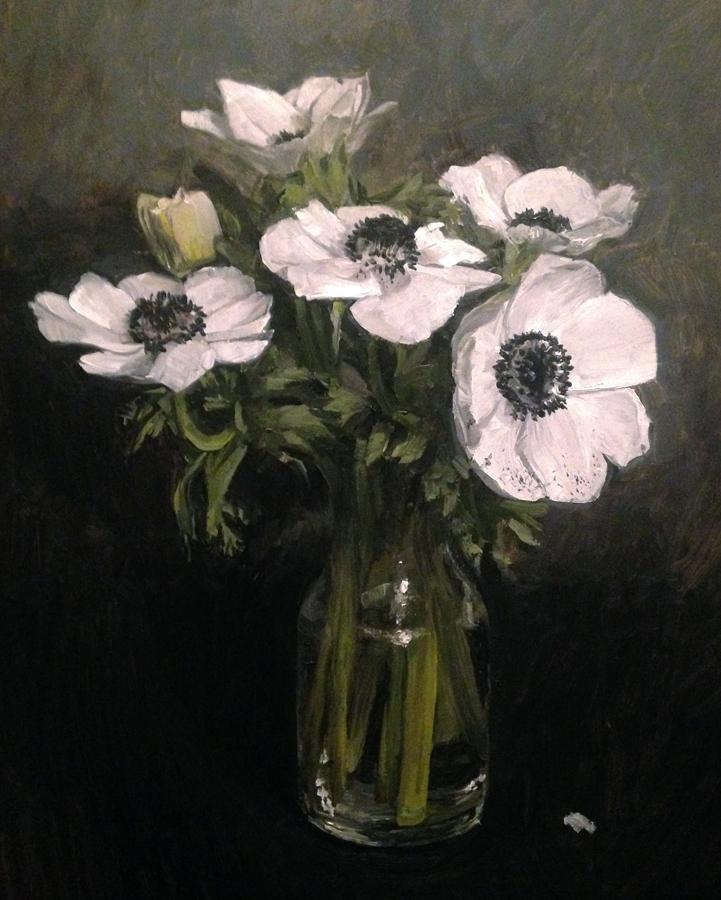 "Rachel Personett ""White Anemones"""