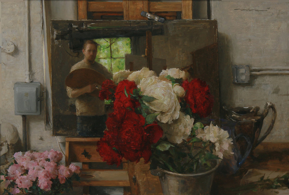 """Studio Mirror"" 22.5""x15"" Oil"