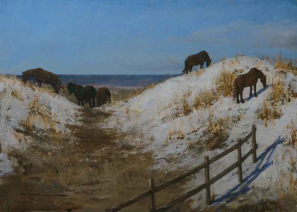 """Winter Survival"" 23""x32.25 Oil"