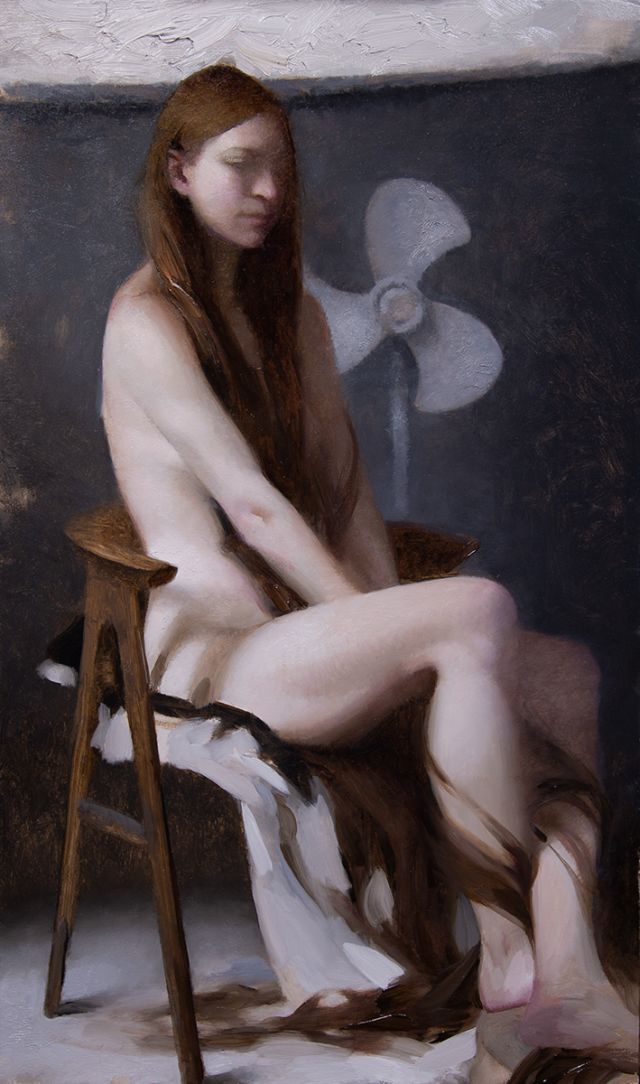 """Repunzel (Seated)"" 20""x12"" Oil"