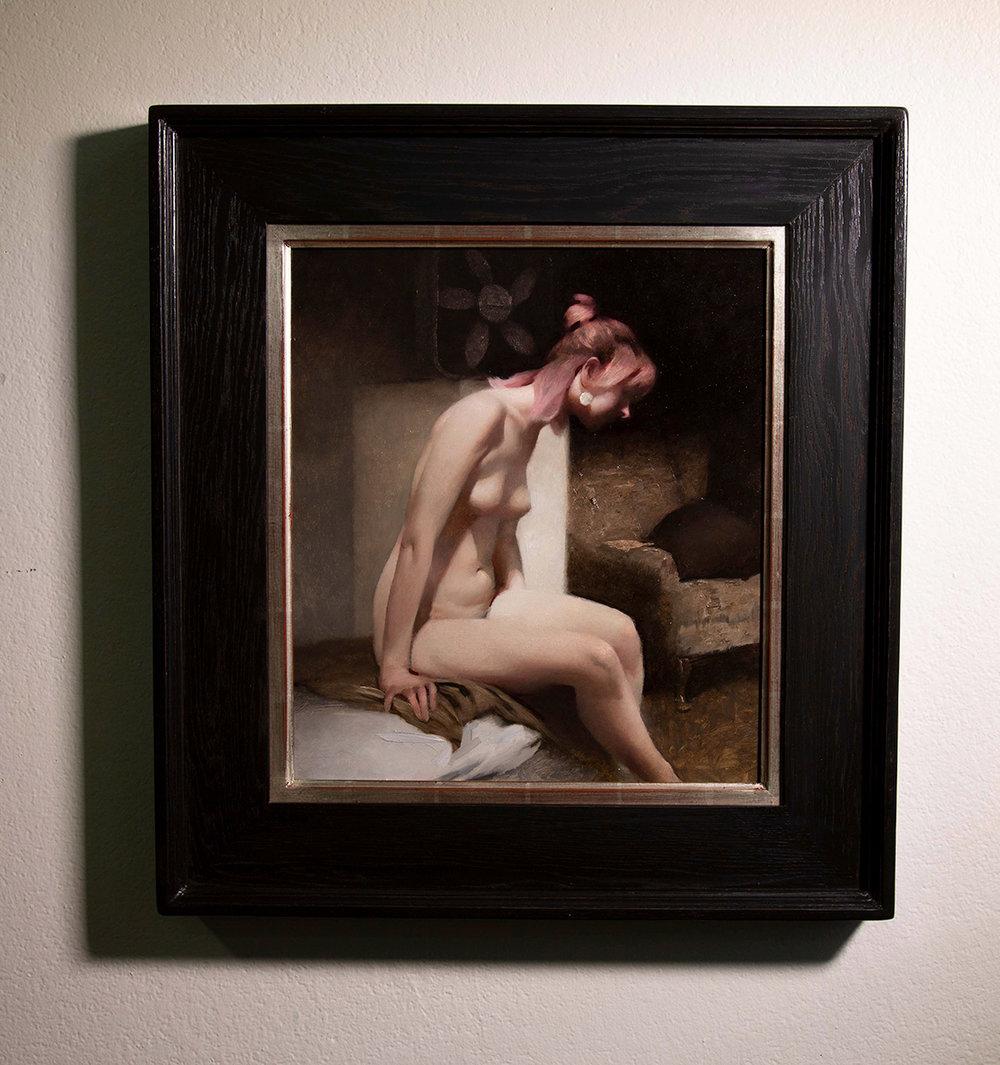 "(SOLD) (Framed) ""The Bath"" 18""x16"" Oil"