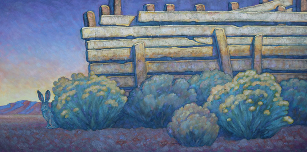 "Howard Post ""Ranch Refuge"" 24""x48"" Oil"