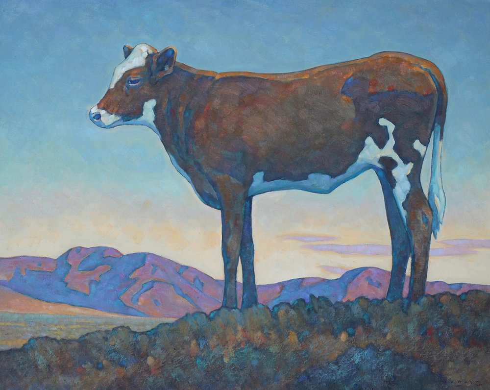 "Howard Post ""Stray Calf"" 24""x30"" Oil"