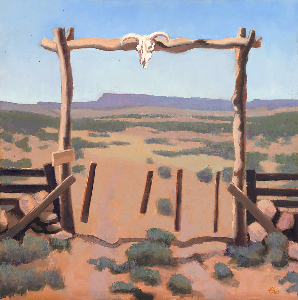 "Gary Ernest Smith ""Gateway to the West"" 32""x32"" Oil"