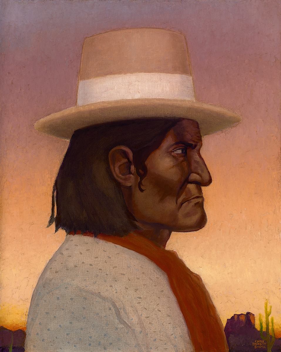 "Gary Ernest Smith ""Geronimo"" 30""x24"" Oil"