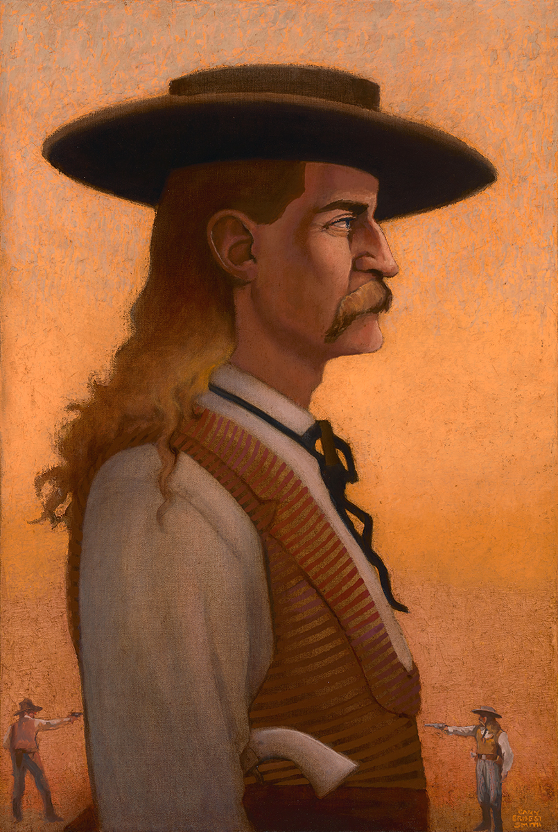 "Gary Ernest Smith ""Wild Bill"" 36""x24"" Oil"