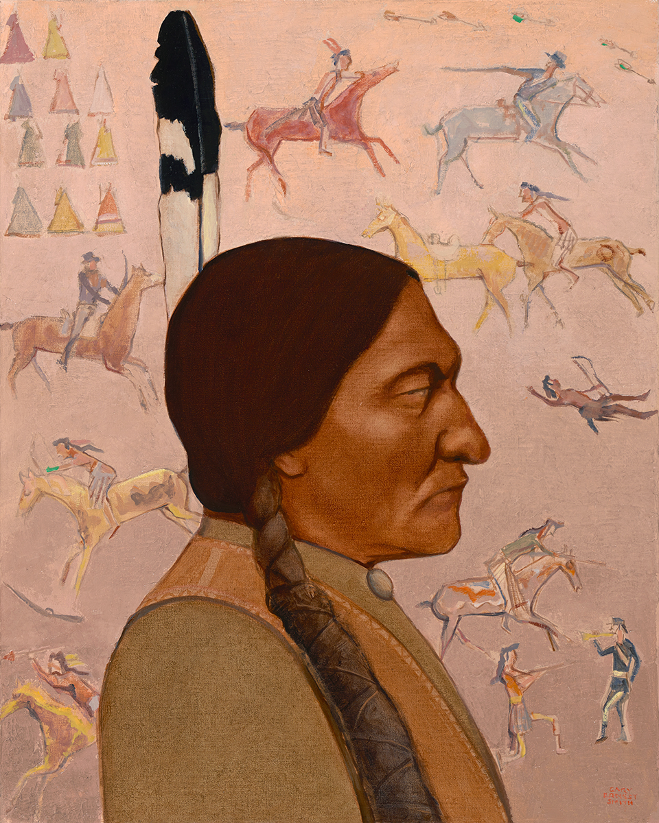"Gary Ernest Smith ""Sitting Bull"" 30""x24"" Oil"
