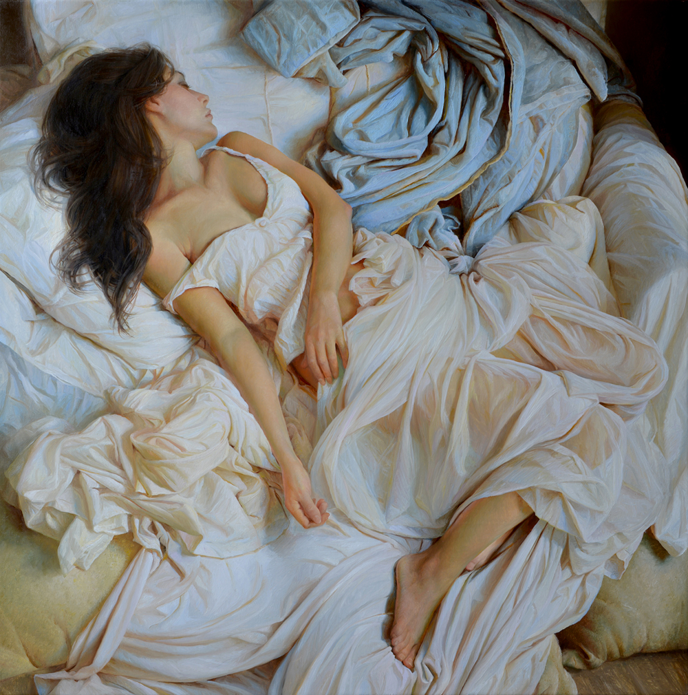 "(SOLD) Serge Marshennikov ""Fragment of a Dream"" 32""x32"" Oil"