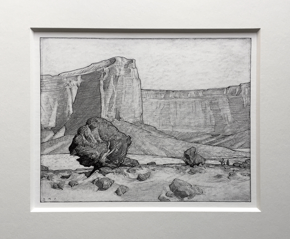 "(SOLD) ""Canyon Riders, Monument Valley"" 7""x9"""