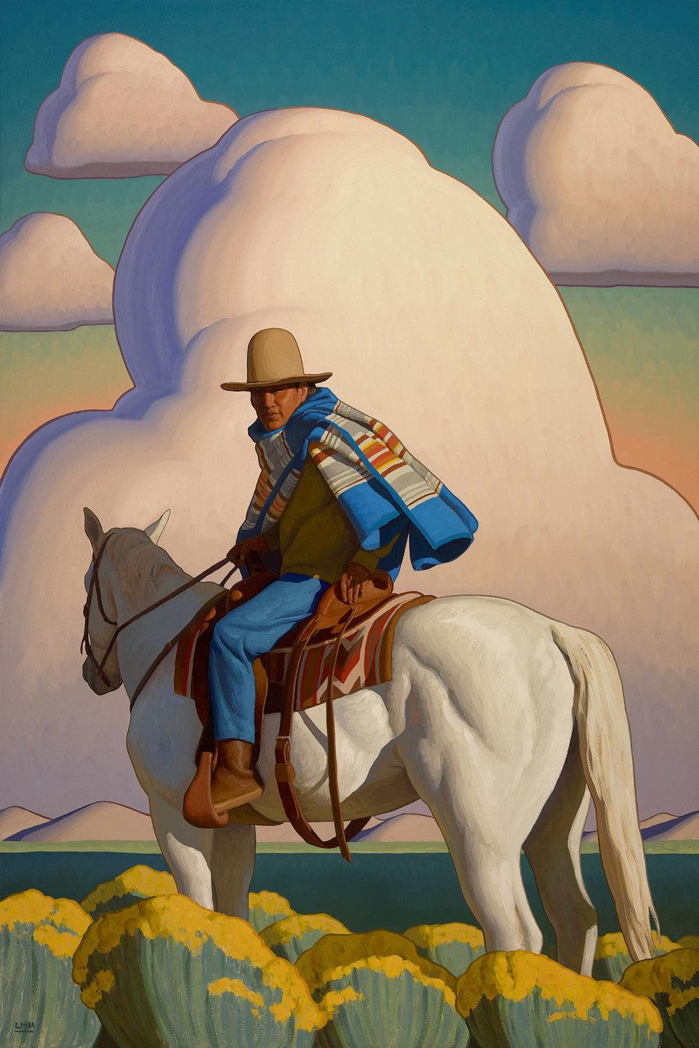 """(SOLD) Logan Maxwell Hagege """"Taos Plains"""" 60""""x40"""""""