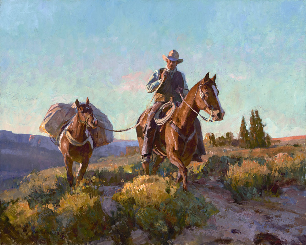 "Grant Redden ""Dusty Trail"" 16""x20"" Oil"