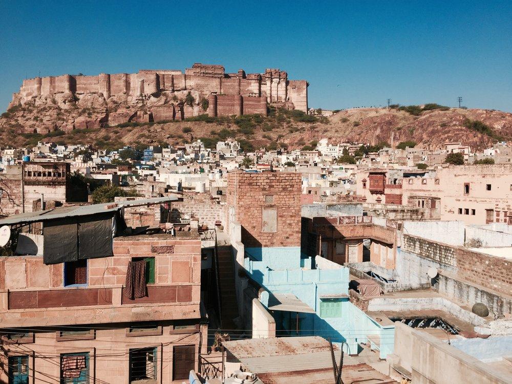 Royal Heritage Hotel rooftop view, Jodphur, Rajasthan (2017)