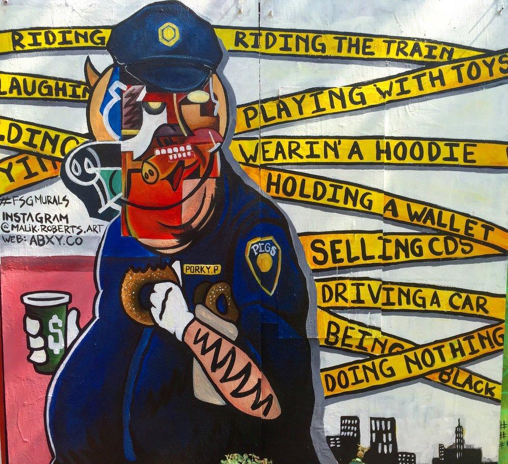 Artist: Malik Roberts, 1st & 1st Mural Park , NYC