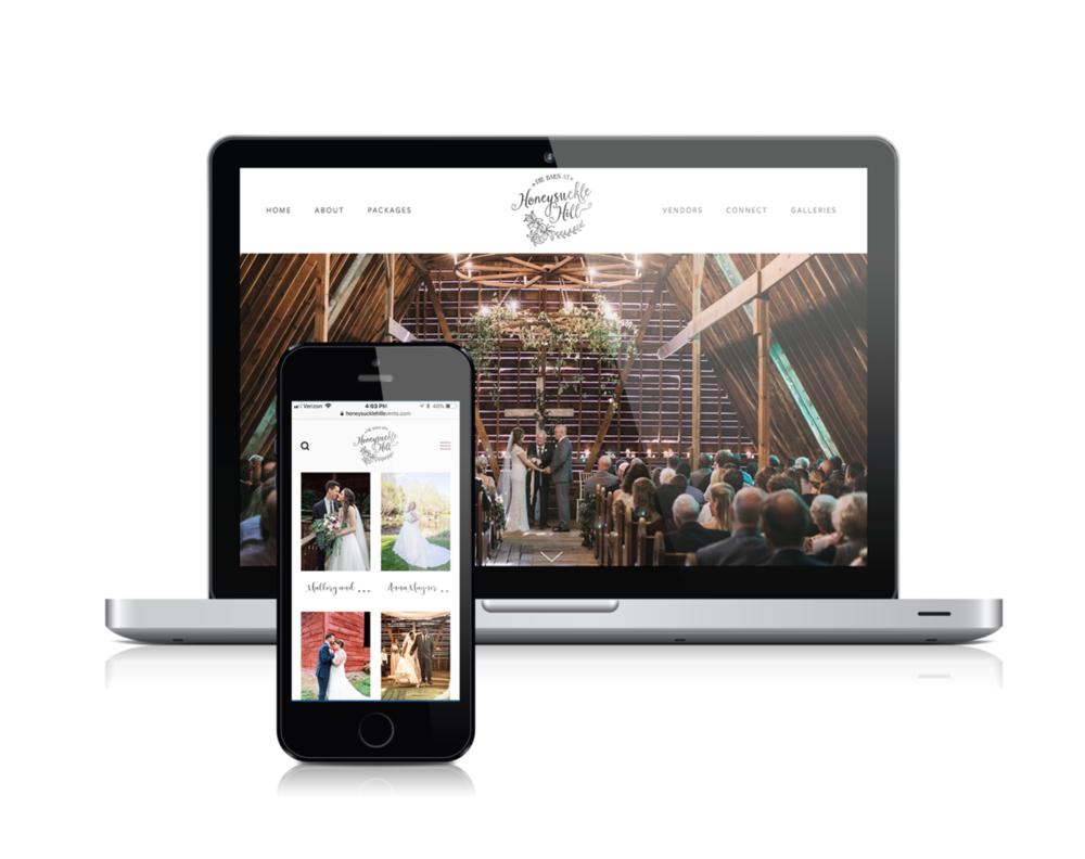 Joy Unscripted website design for  Honeysuckle Hill  wedding venue