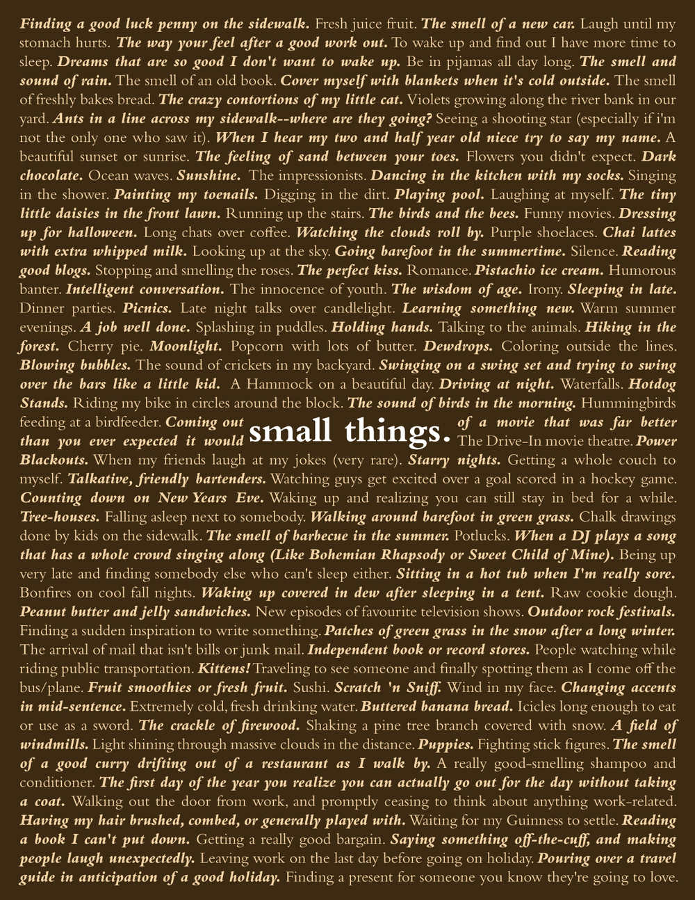 Small Things Art Show