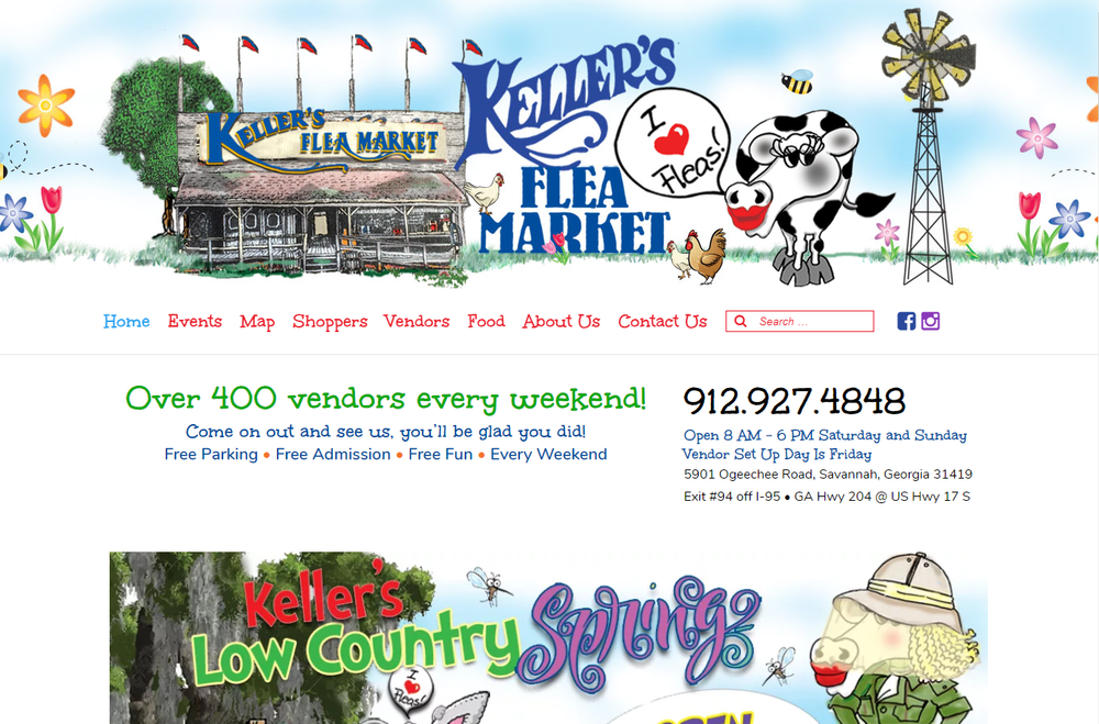 Keller's Flea Market   - Early Stage Project Manager for Flowcharts to Initial Design