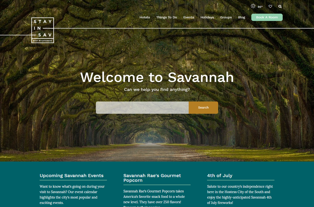StayInSavannah.com   - Project Manager