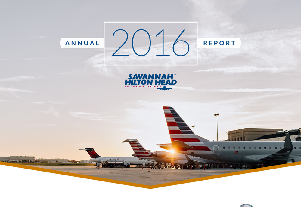Savannah Hilton Head Int'l Airport 2016 Annual Report   - Project Manager