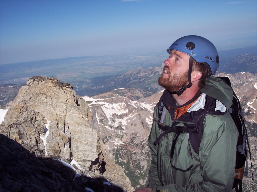 Climbing The Grand Teton with brother Allen, and friend.
