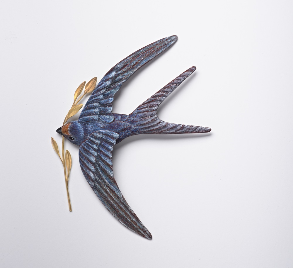 Nesting Swallow Brooch