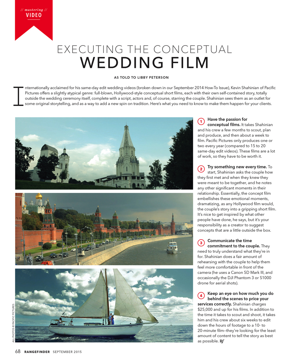 EXECUTING THE CONCEPTUAL WEDDING FILM