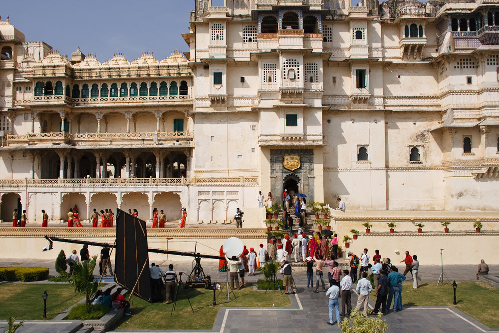 """City of Lakes"" filming in Udaipur, India"