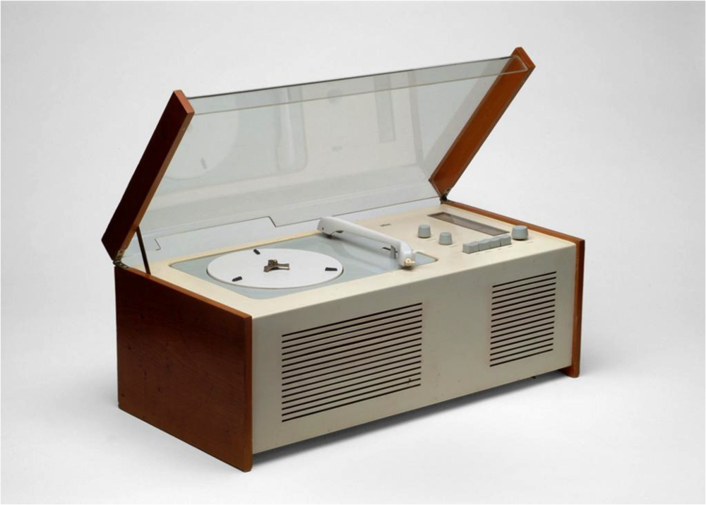 "The SK4 radio-phonograph, also known as the ""Phonosuper,"" designed by Dieter Rams and Hans Gugelot, 1956"