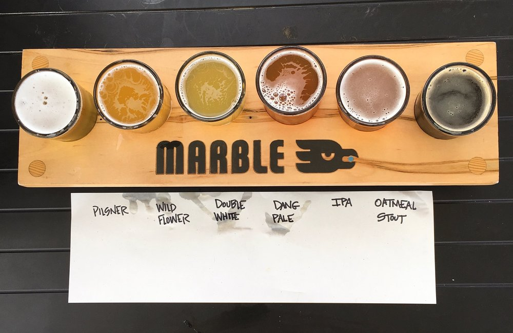Matt's flight at  Marble Brewery .
