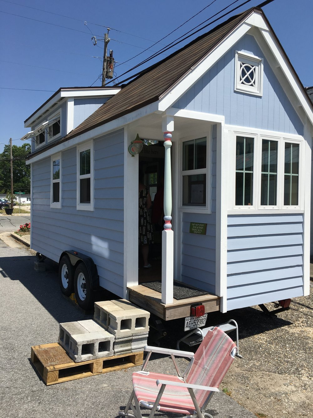 This awesome tiny home belongs to our new friend Patti. You can find it tailgating at football games or parked alongside the banks of the Cape Fear river in Wilmington.