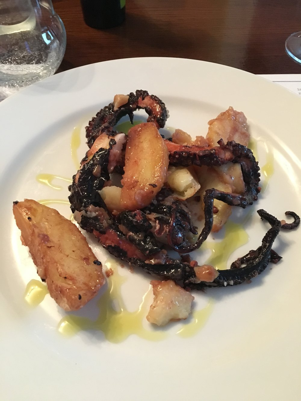 Charred octopus salad